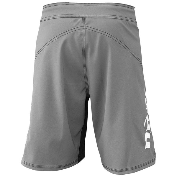 Phantom 3.0 Fight Shorts - Gray by Nogi Industries - MADE IN USA grappling shorts back view