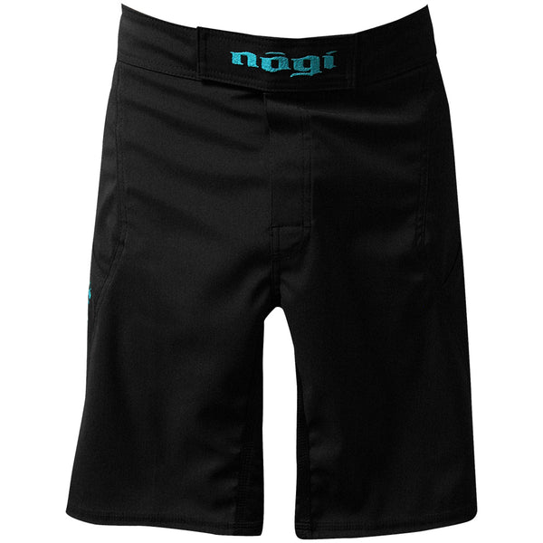 Phantom 3.0 Fight Shorts - Black and Mint by Nogi Industries - MADE IN USA ?? - Limited Edition Front View