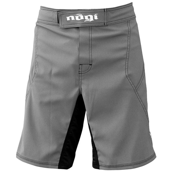 Phantom 3.0 Fight Shorts - Gray by Nogi Industries - MADE IN USA grappling shorts front view