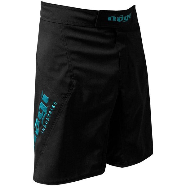 Phantom 3.0 Fight Shorts - Black and Mint by Nogi Industries - MADE IN USA - Limited Edition