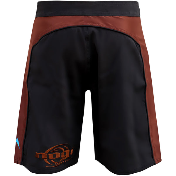 Volt 3.0 Extra Duty Rank Fight Shorts - Brown, Rear