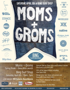 Moms + Groms at Bing Surf Shop : Saturday April 8th!