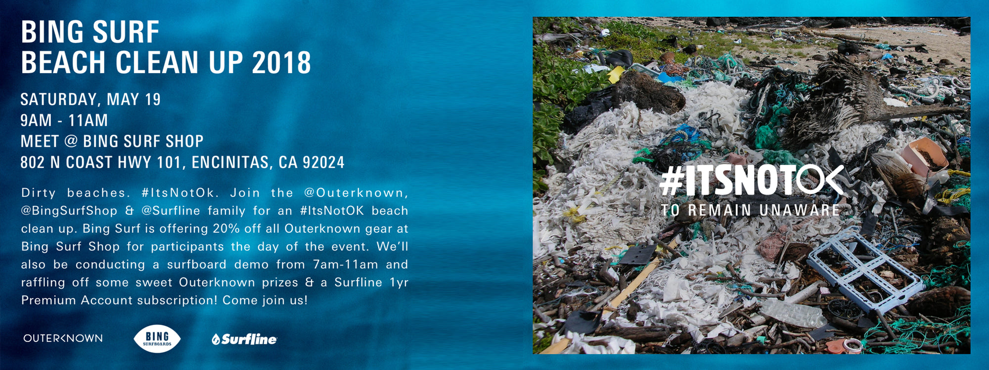 Beach Cleanup and Board Demo Sponsored by Outerknown and Surfline