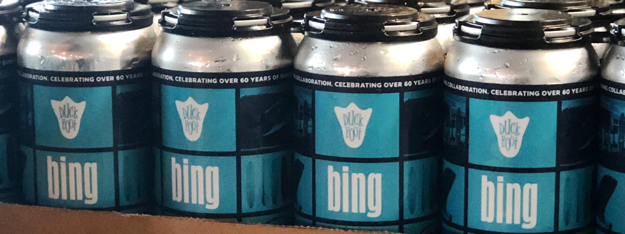 Bing Surfboards x Duck Foot Brewing Collaboration