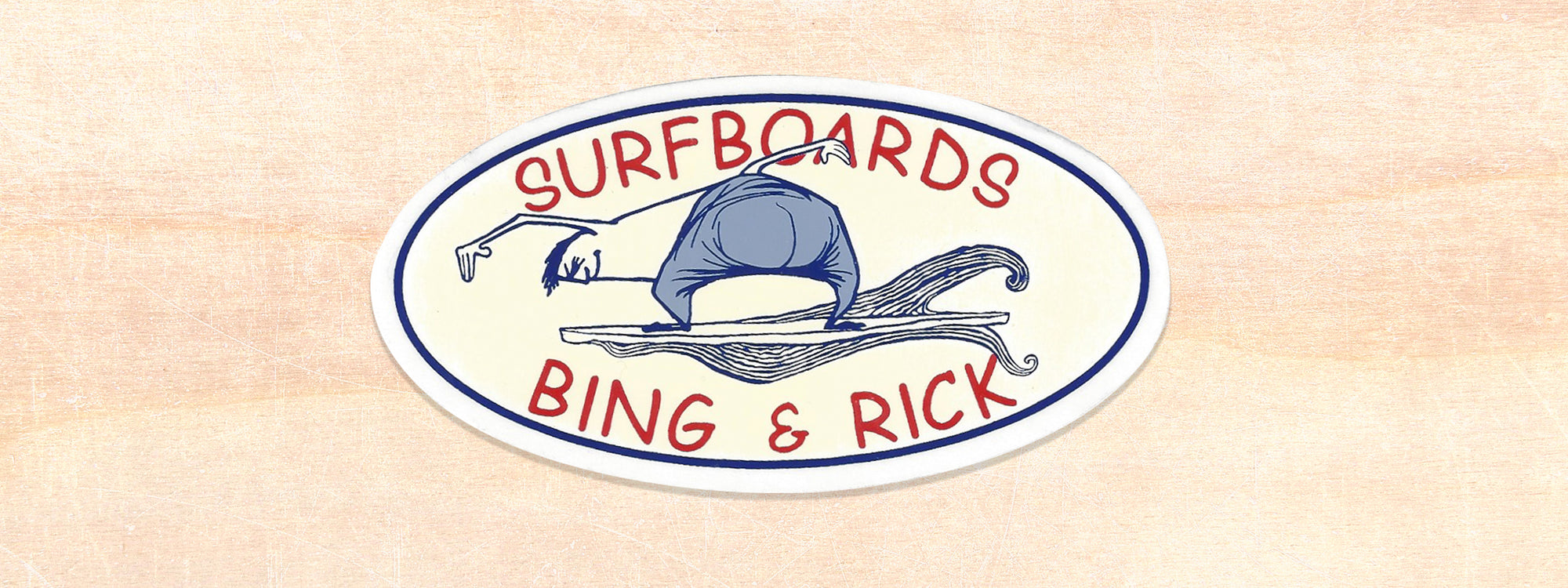 Bing and Rick Surfboards Logo Sticker