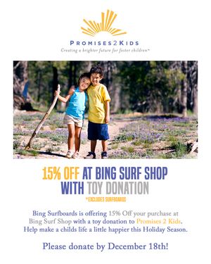 15% Off Bing Surf Shop with Toy Donation