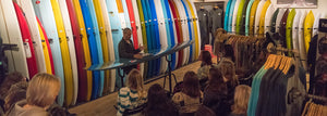 Matt Calvani Talks with San Diego Surf Ladies at Bing Surf Shop