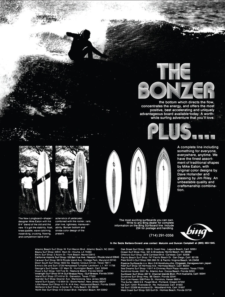 Bing Surfboards Bonzer Ad Mike Eaton