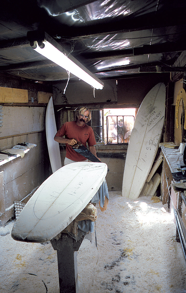 Mike Eaton in the Shaping Room