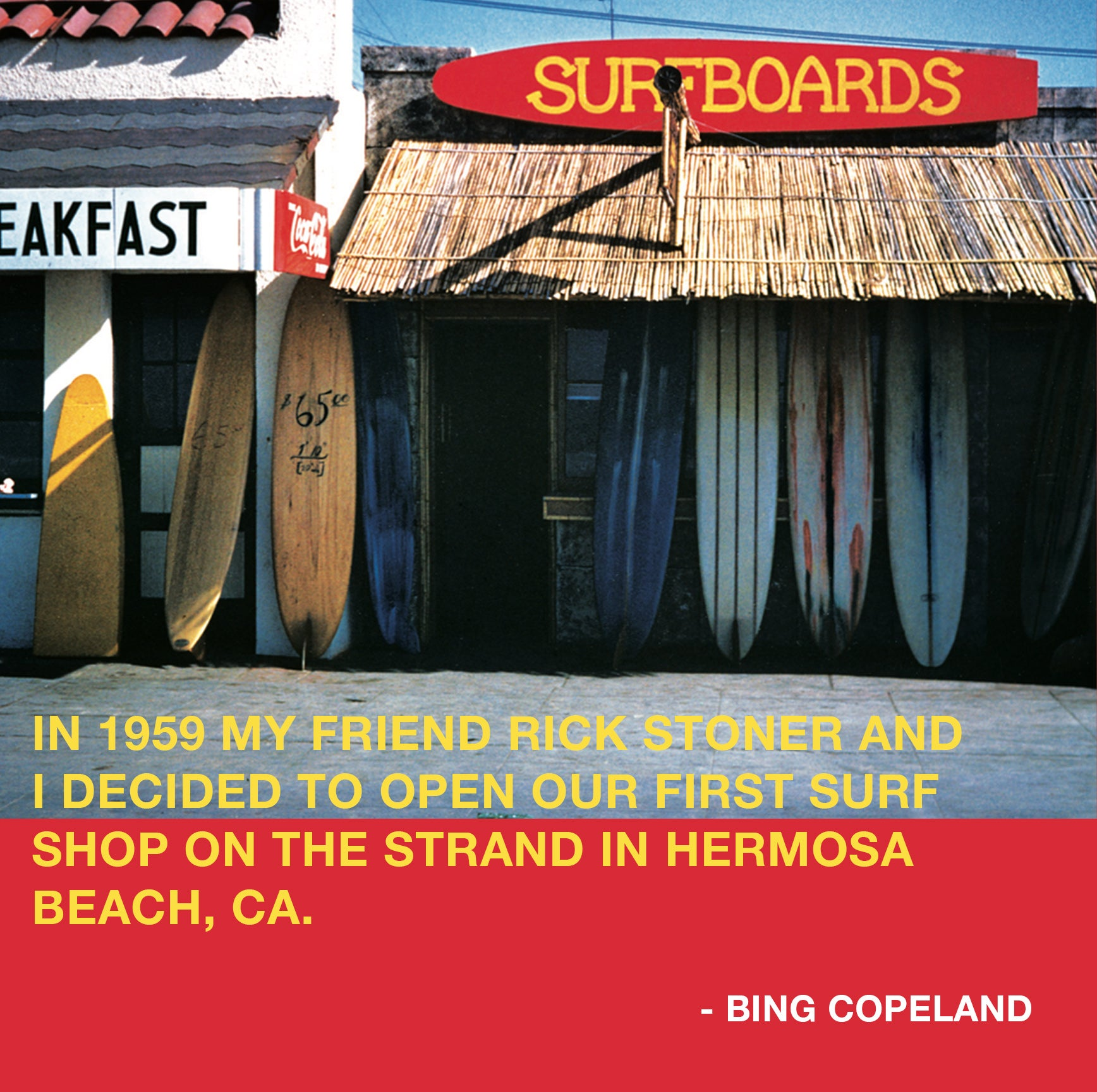 Bing and Rick Surfboards Surf Shop Hermosa Beach 1959