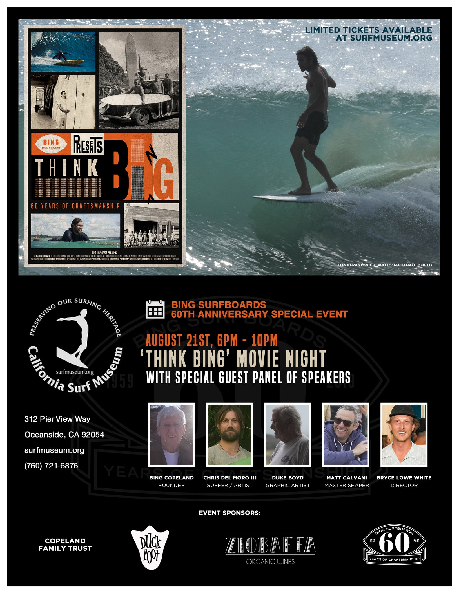 THINK BING Movie Premiere at California Surf Museum Oceanside