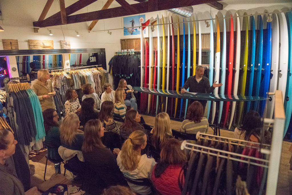 Matt Calvani Talks with San Diego Surf Ladies at Bing Surf