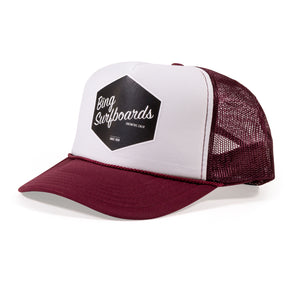 HEX TRUCKER HAT MAROON/WHITE