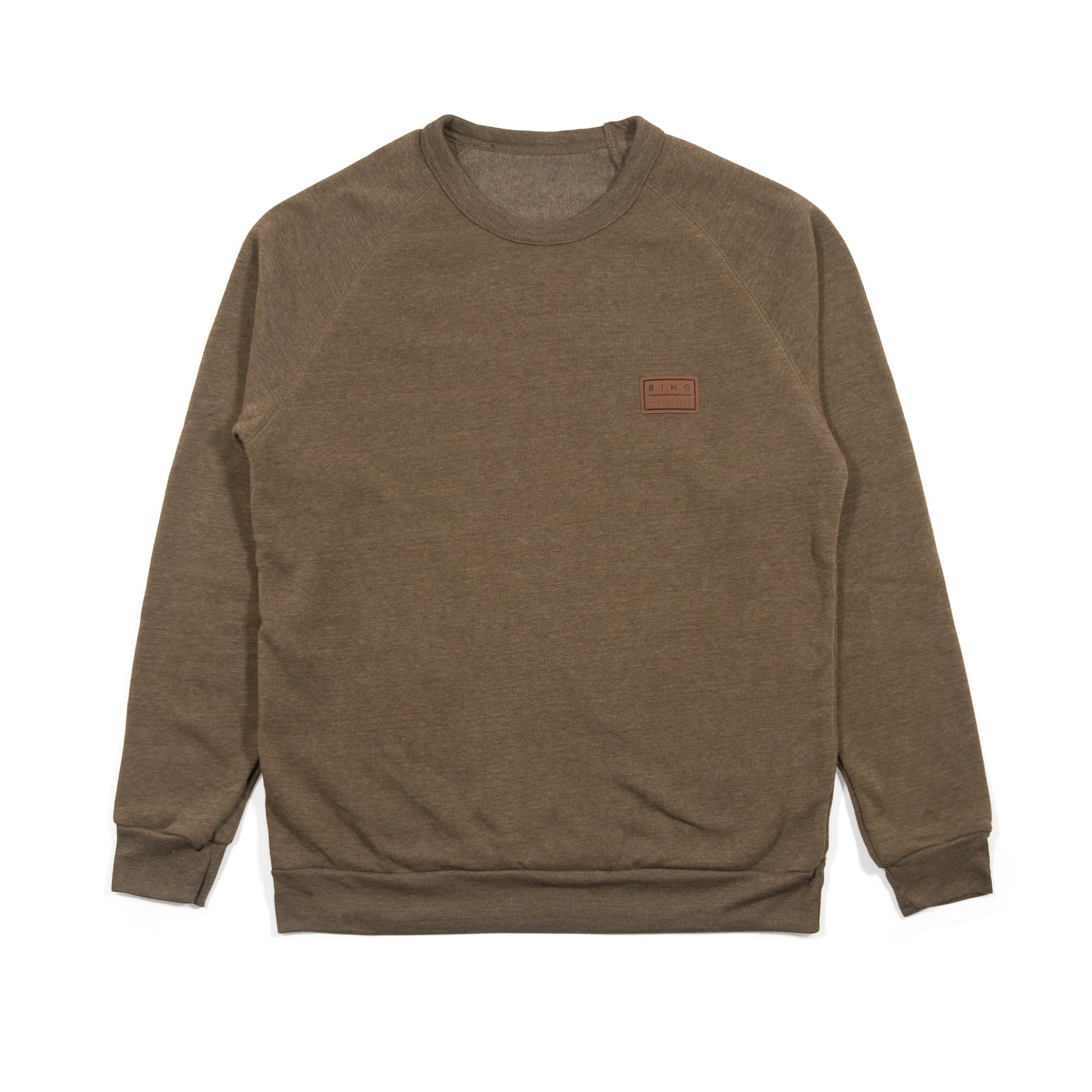 PATCH PREMIUM CREW SWEATSHIRT DARK OLIVE