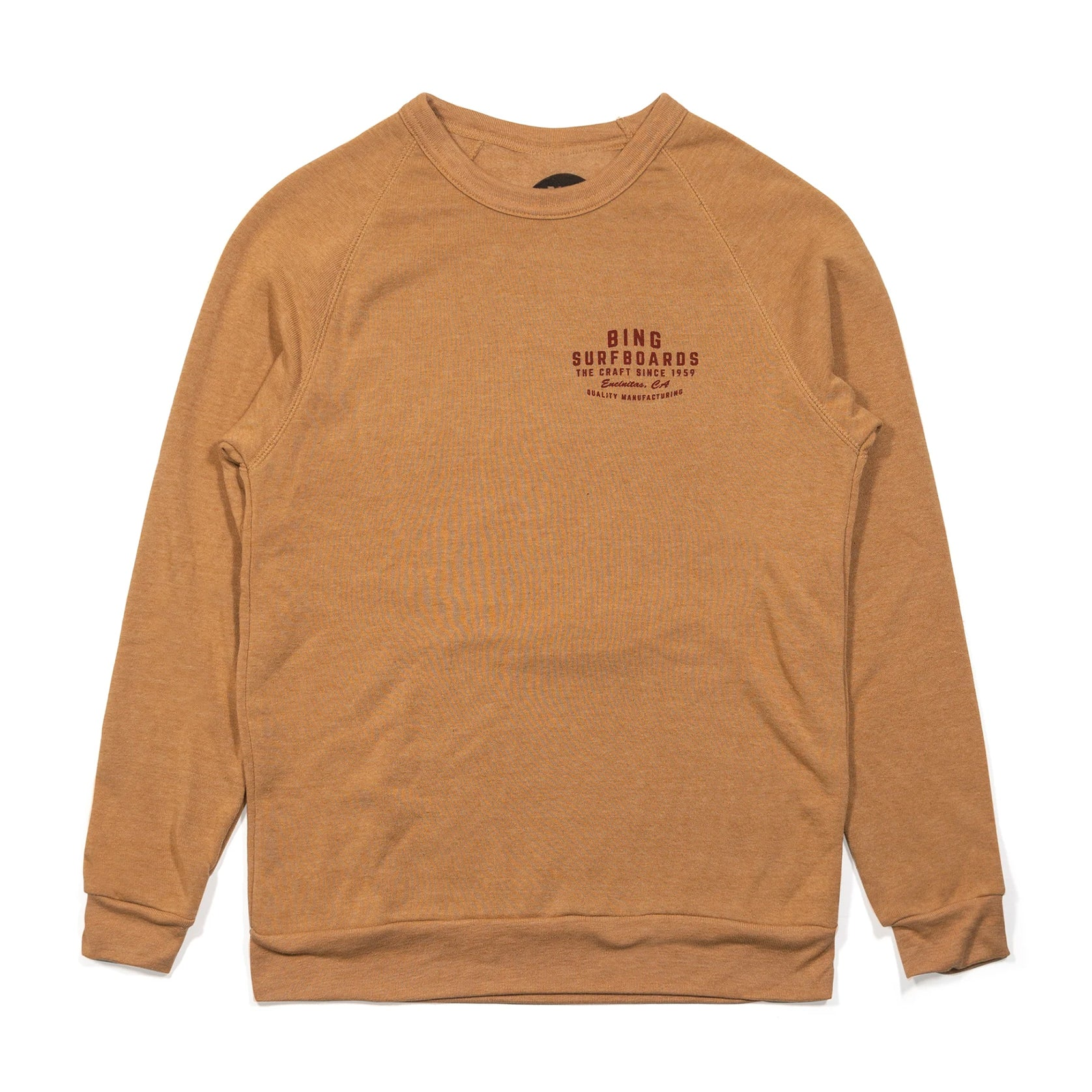 QUALITY MANUFACTURING ECO SWEATSHIRT CAMEL