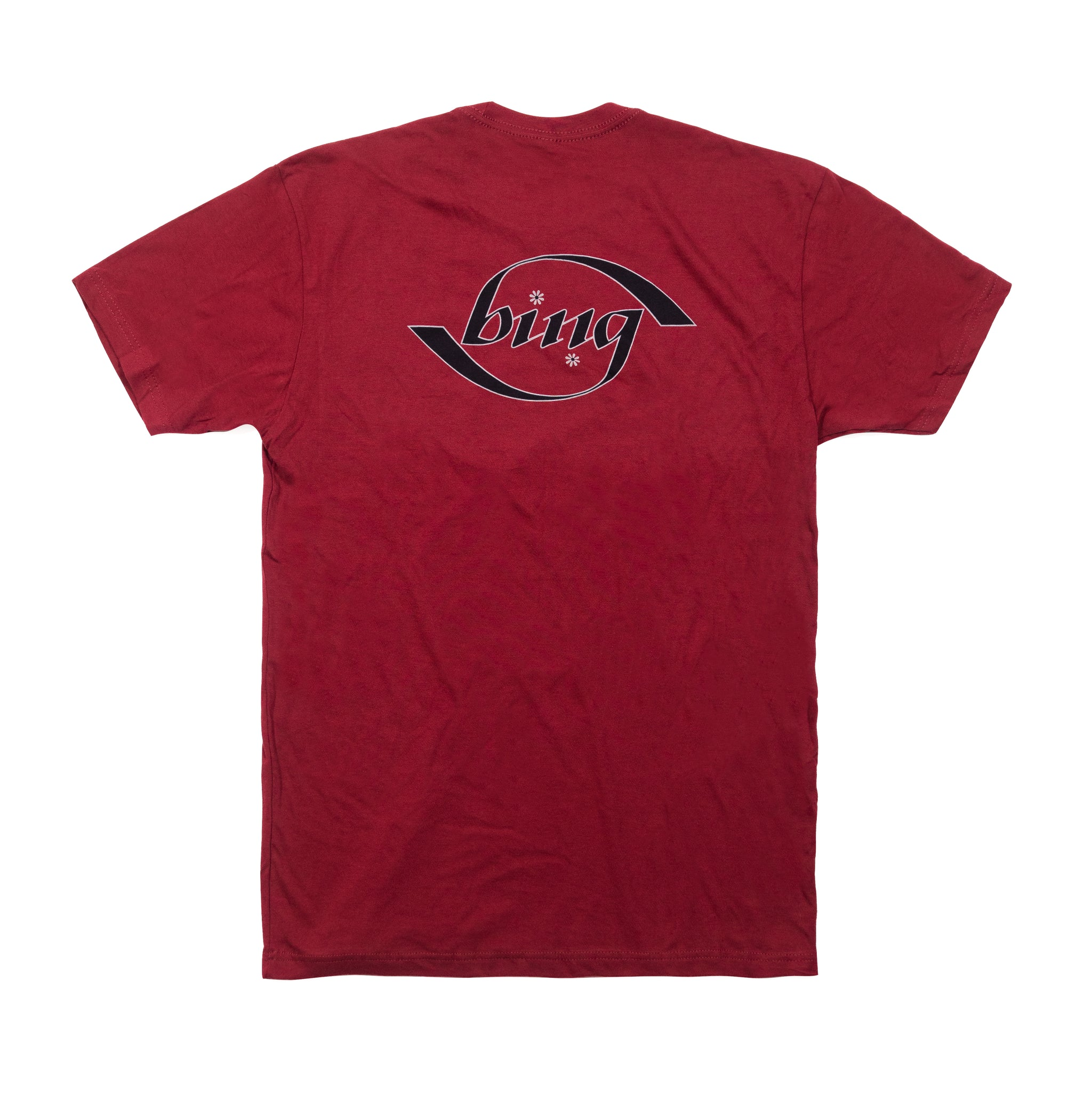 Bing Surfboards Ambigram T-Shirt in Cardinal