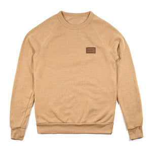 PATCH PREMIUM CREW SWEATSHIRT CAMEL