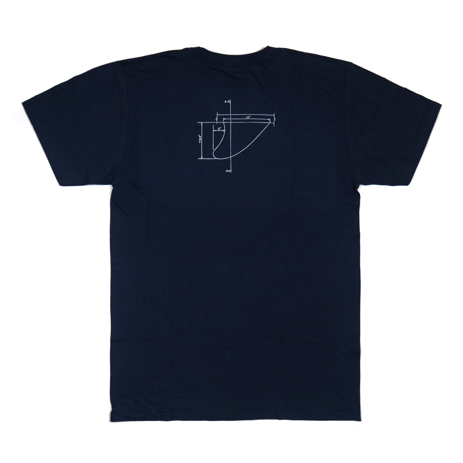THOMAS CAMPBELL LOG DIAGRAM TEE NAVY