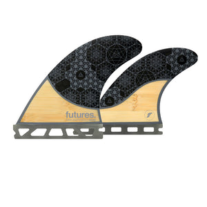 Futures Rasta Quad Fins - Bamboo/Grey