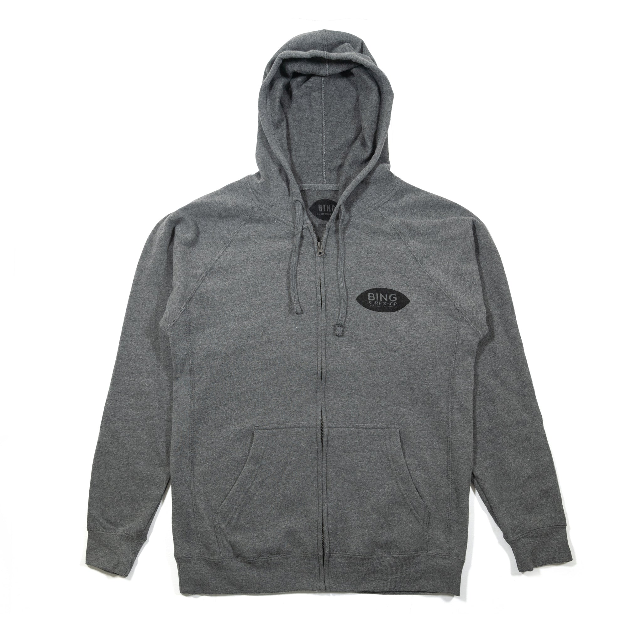 LEUCADIA SHOP PREMIUM ZIP HOODIE NICKEL HEATHER