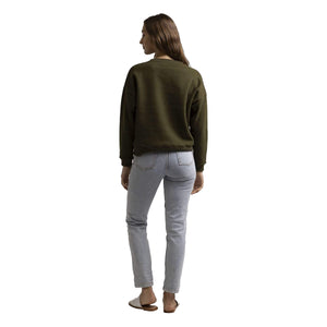 CLASSIC CREW NECK FLEECE OLIVE