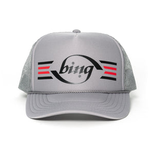 70'S STRIPE TRUCKER HAT GREY