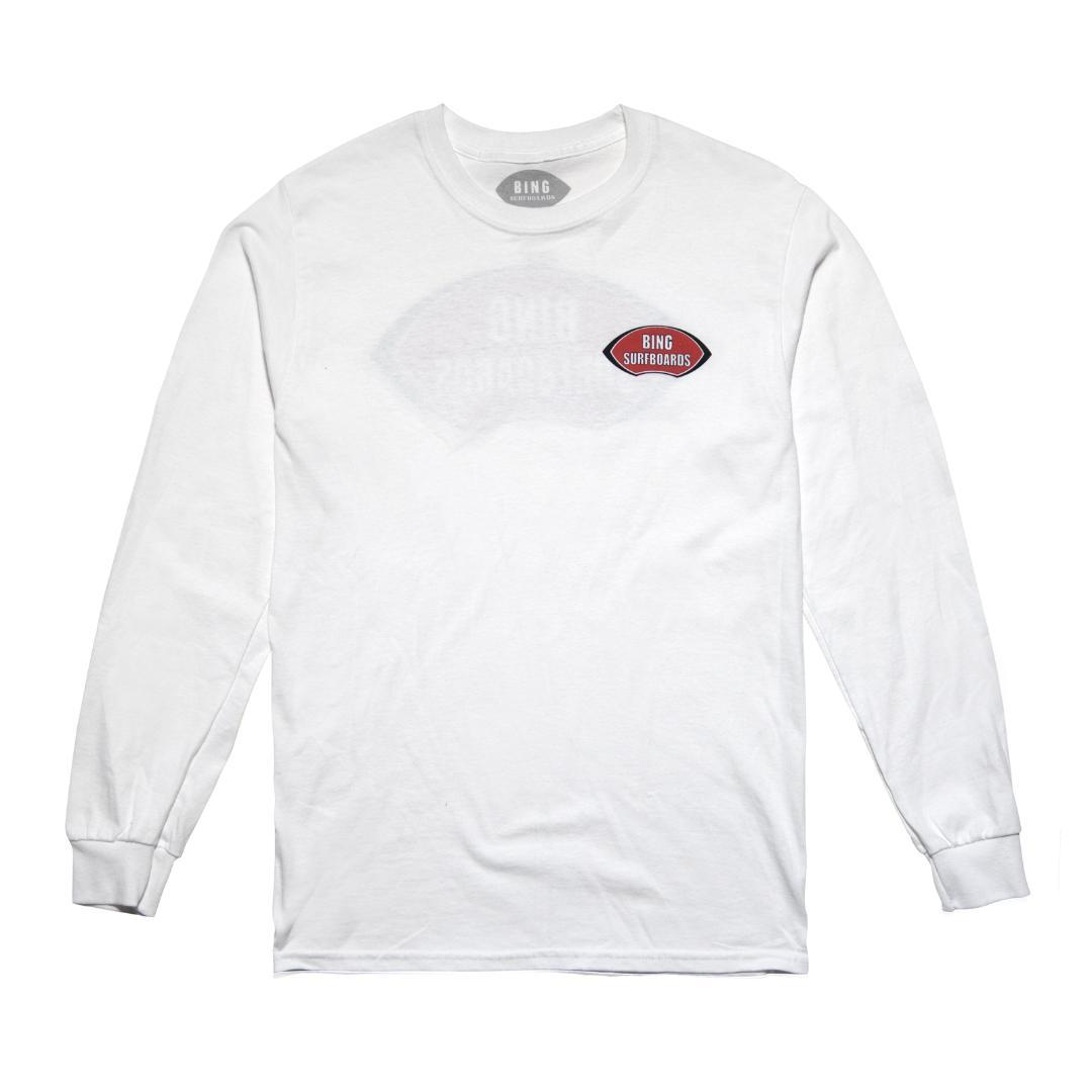 NOSERIDER CLASSIC LONG SLEEVE TEE WHITE