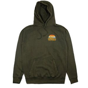 SAN ONOFRE SURF CO. OLD SCHOOL SUN HOODIE VINTAGE OLIVE