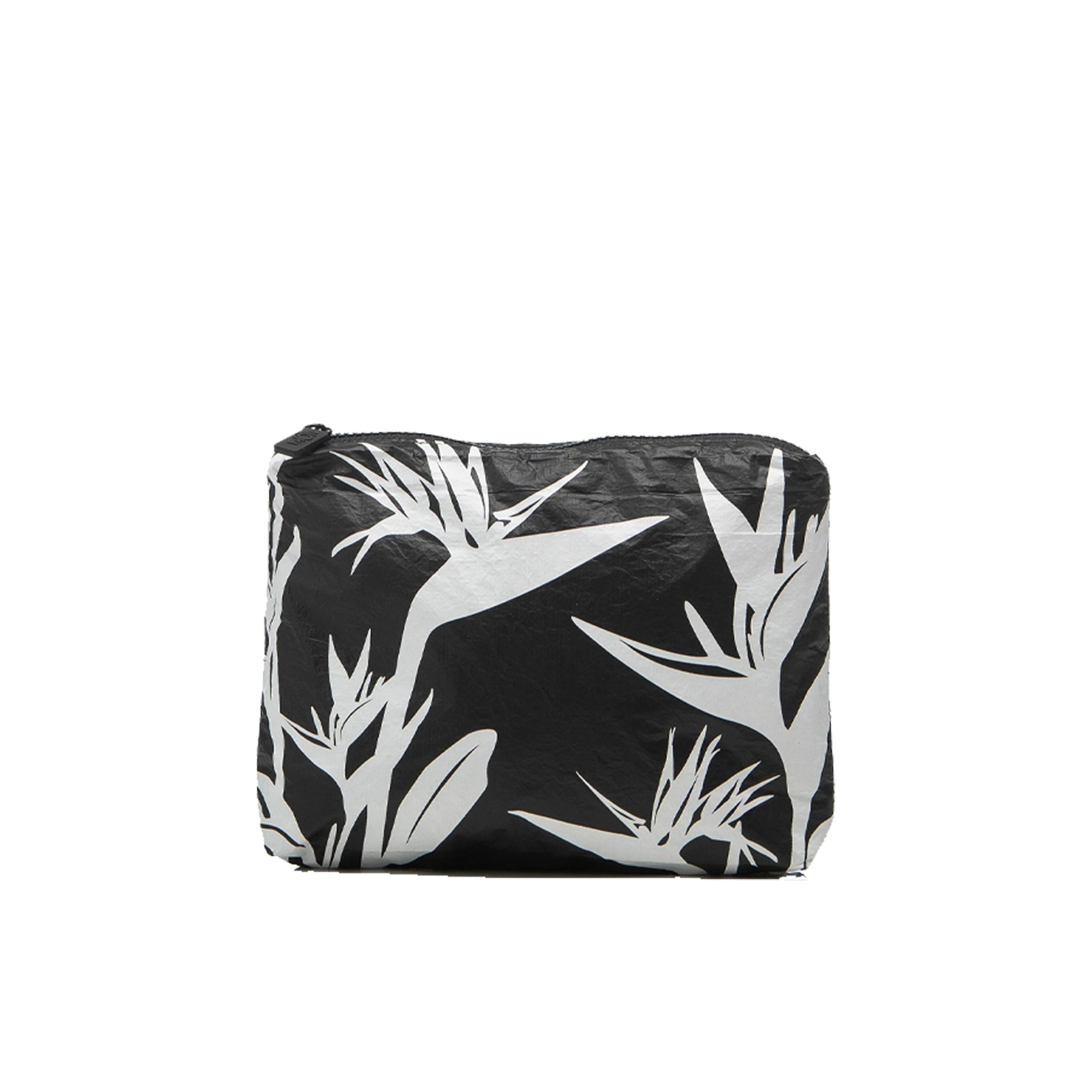 BIRDS IN PARADISE POUCH SMALL BLACK