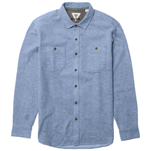 SHAVER FLANNEL HEATHER BLUE