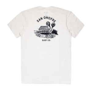 BEACH SHACK TEE WHITE