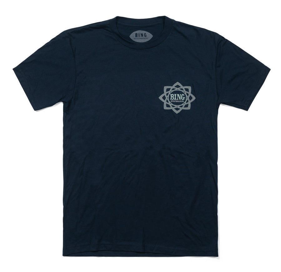 MANDALA PREMIUM TEE MIDNIGHT NAVY / LIGHT BLUE