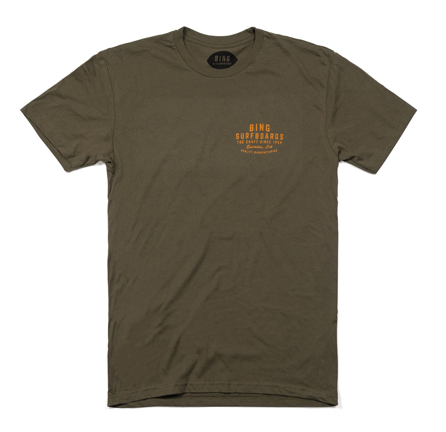 QUALITY MANUFACTURING PREMIUM TEE MILITARY GREEN