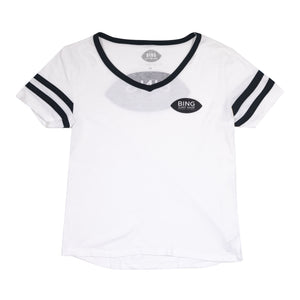 LEUCADIA SHOP WOMEN'S VARSITY TEE WHITE