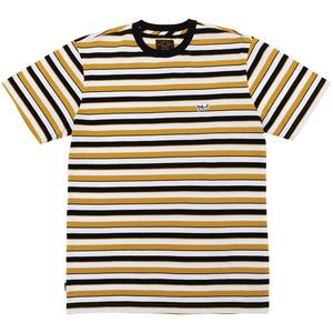 SLICK KNIT TEE BLACK/GOLD
