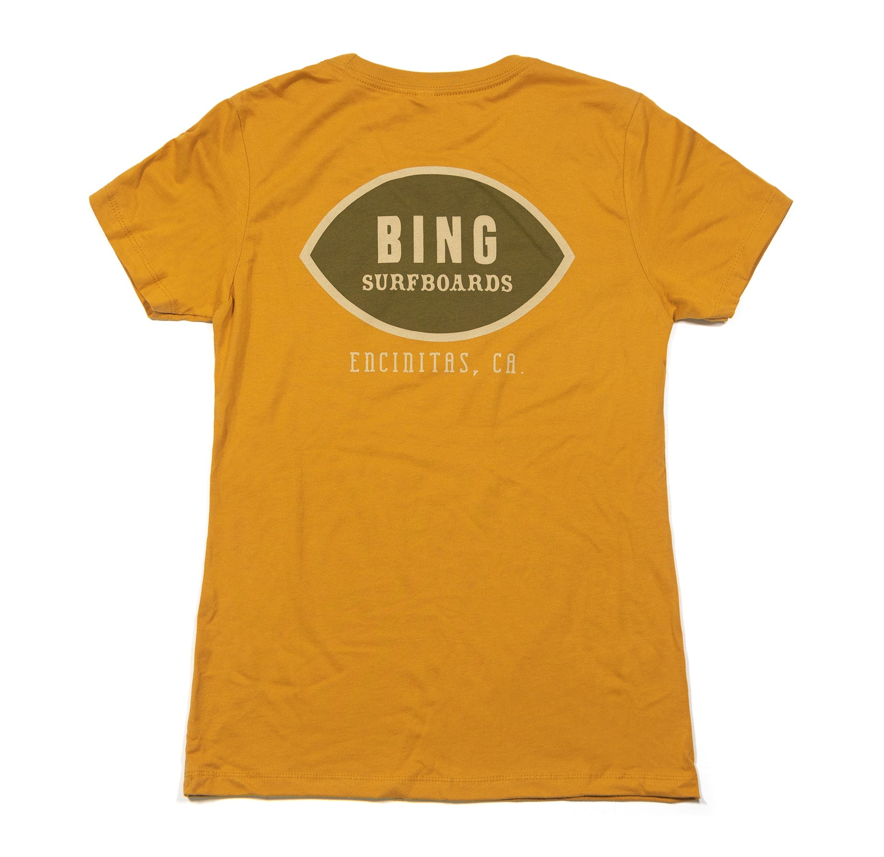 CLASSIC ENCINITAS WOMEN'S PREMIUM TEE ANTIQUE GOLD
