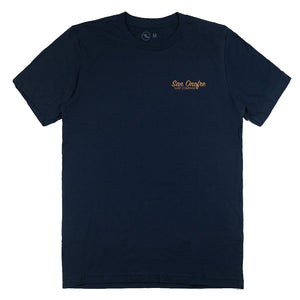 STRIPER PATCH TEE NAVY