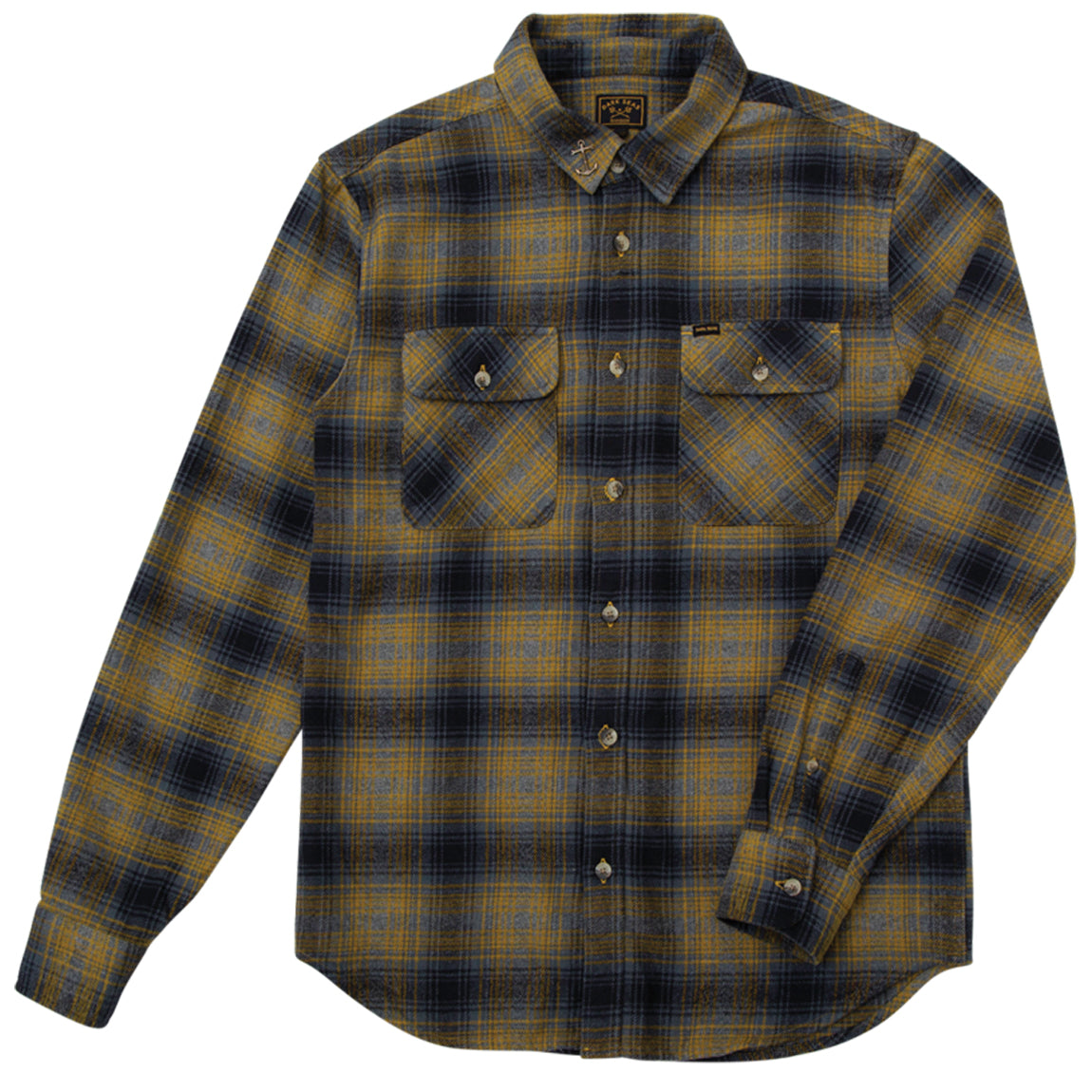 EXPOSURE SHIRT NAVY/TOBACCO
