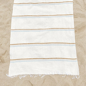 SUNDREAM COFFEE THROW BLANKET - WHITE