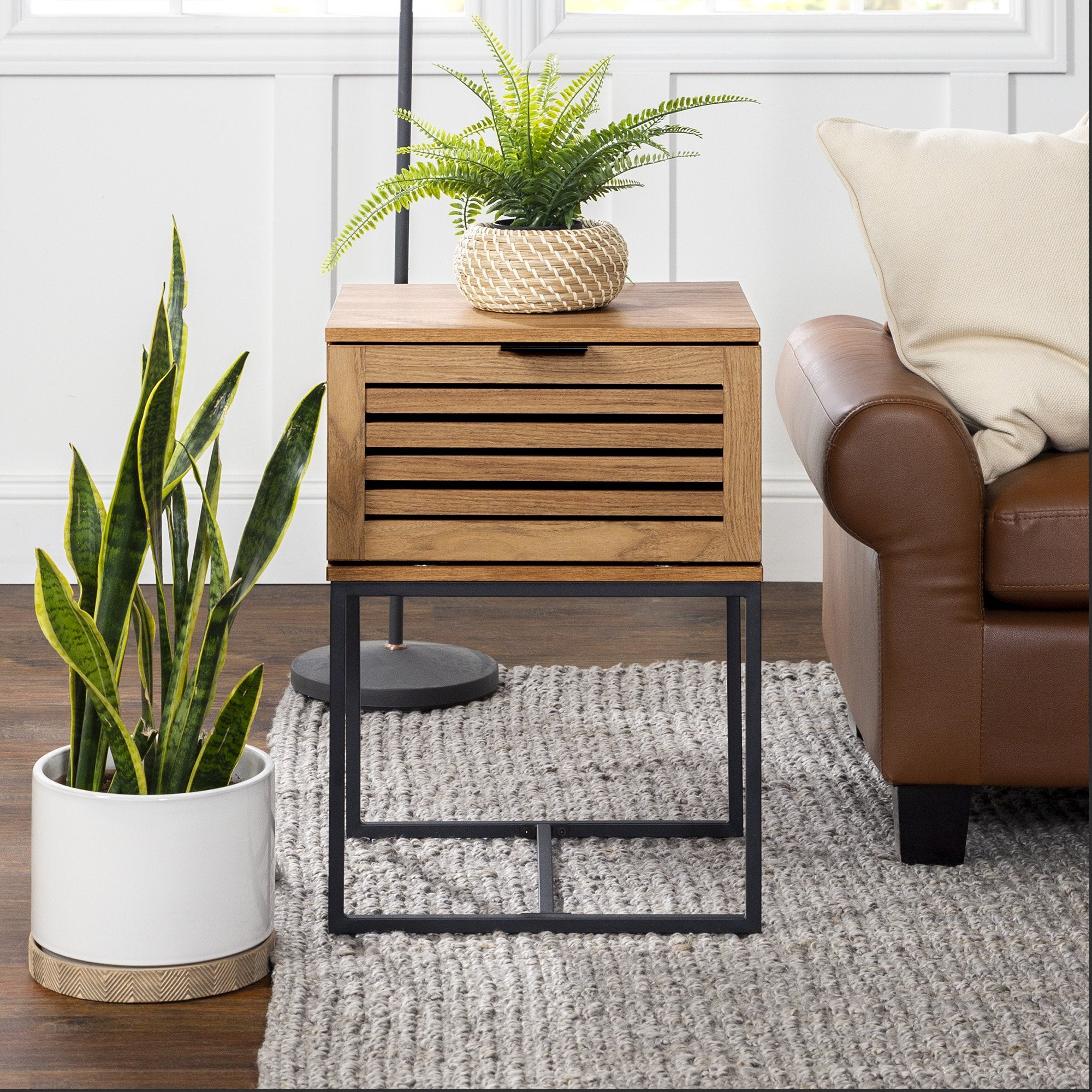 Jackson Slat Door Side Table