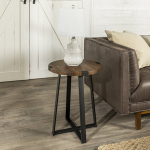 Metal Wrap 18 inch Side Table