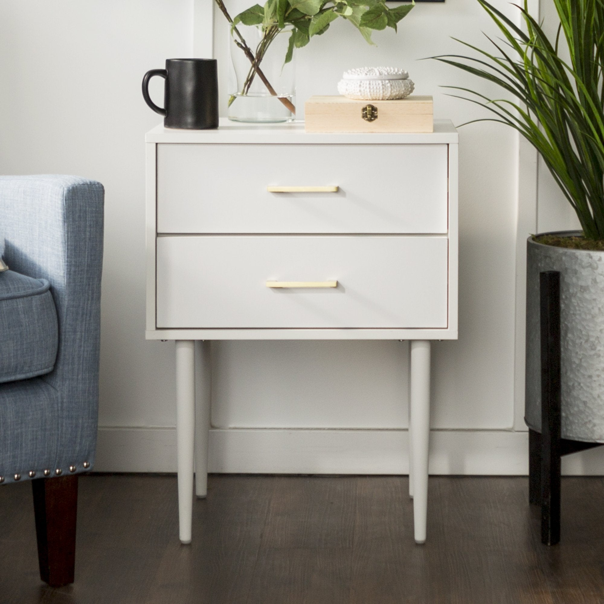 Olivia Side Table in White