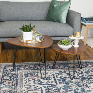 Hairpin Leg Nesting Coffee Table Set