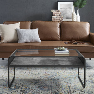 Reversible Curved Metal Coffee Table