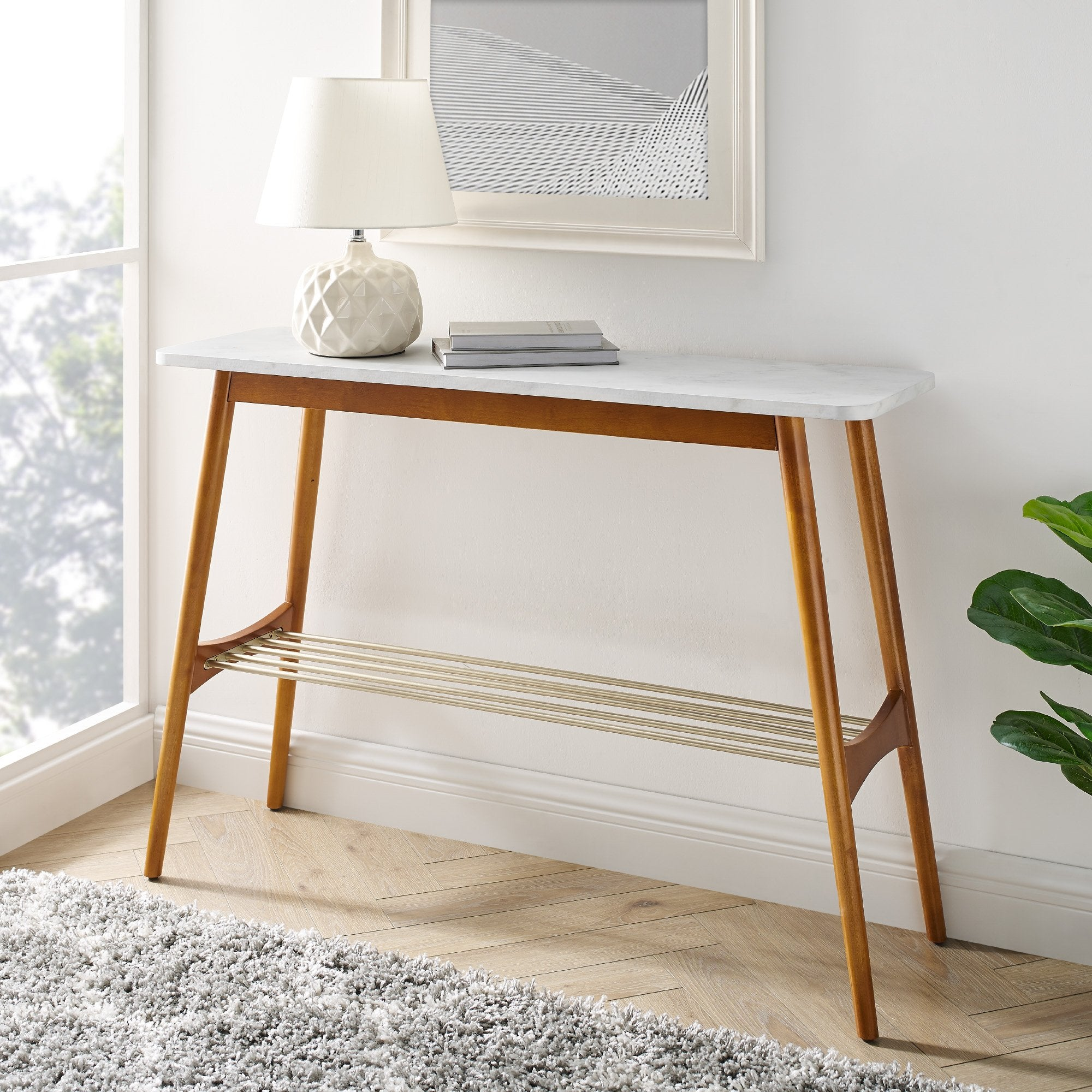 Jamie Tapered Leg Entry Table