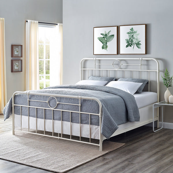 Antiqua King Bed in White