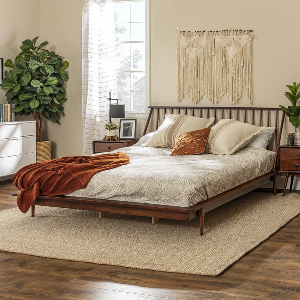 Spindle Back Solid Wood King Bed