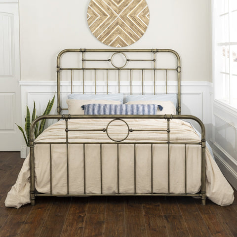 Antiqua Bronze Queen Bed