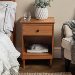 Spencer Solid Wood 1 Drawer Nightstand