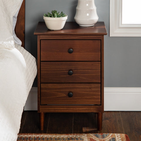 Spencer Solid Wood 3 Drawer Nightstand